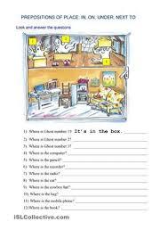 esl prepositions worksheets worksheets