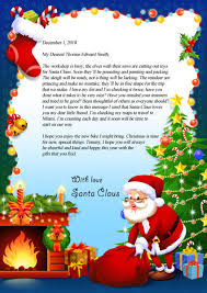 personalized letter from santa letter from santa claus mynameinastory