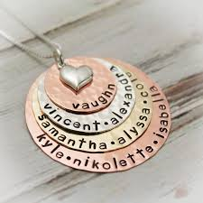 mother necklace images Lots of layers of love grandmother or mother hand stamped necklace jpg