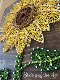 sunflower string art kit diy kit crafts sunflower