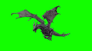 dragon flying green screen free stock footage