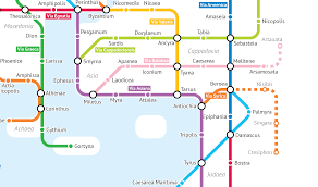 Rome Metro Map The Roads Of The Roman Empire As A Subway Map Creators