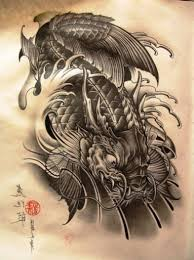 koi dragon tattoo tattoo art design ideas