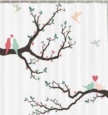 Shower Curtains With Birds Bird Shower Curtain Ebay