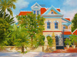 Painting Of House by Key West Paintings