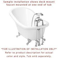 chrome deck mount clawfoot tub faucet w hand shower w drain