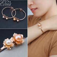 rose pearl bracelet images Buy pearl bangle designs gold and get free shipping on jpg