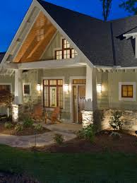 Arts And Crafts Style Home by Great Front Porch Designs Illustrator On A Basic Ranch Home Design