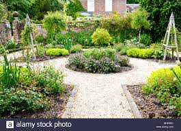 a formal herb or kitchen garden in the grounds of an english