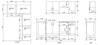 profondeur meuble cuisine hauteur standard plan de travail cuisine cheap hauteur standard
