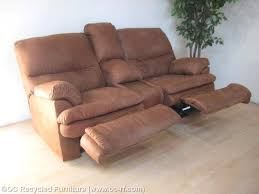 caramel brown dual recliner loveseat used furniture recycled