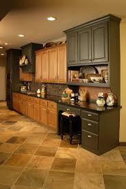 exciting two tone style kitchen with brown green colors kitchen breathatking two tone