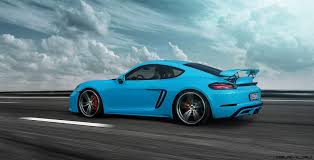 miami blue porsche boxster techart reveals 718 boxster and cayman w 50hp pnp powerkit