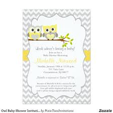owls baby shower baby shower invitation yellow and gray unique owl baby shower