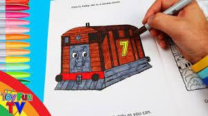 thomas friends coloring book colour toby thomas tank