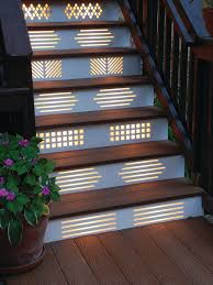 my ocd would go crazy with all of the diffe designs but would love this with one design pattern the lighting on my stairs from the sidewalk to my deck