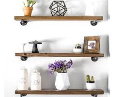 Woodworking Shelves Design by Rustic Shelf Etsy