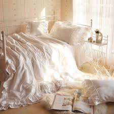 canap駸 velours aliexpress com buy white ruffle lovely bedding 4pcsset