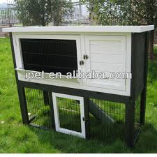 Rabbit Hutch Plastic Newly 4ft Double Decker White And Green Wooden Rabbit Hutch With