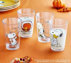 peanuts thanksgiving tumblers pottery barn