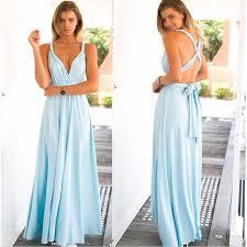 light blue halter maxi dress women light blue maxi dress summer bandage long dress multiway