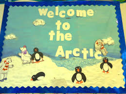 welcome to the arctic bulletin board cute penguins and polar bears