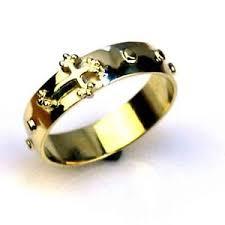 catholic rosary ring 14k gold catholic rosary ring 5 5gram by estherleejewel ebay