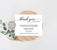 business thank you cards business thank you card template etsy seller thank you card