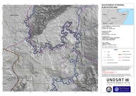 Florida Elevation Map by Southwest Ethiopia South Omo Province Elevation Map Unitar