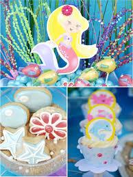 the sea decorations sea mermaid birthday party printables supplies birdsparty