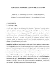 principles of ornamental fsheries a brief overview journal