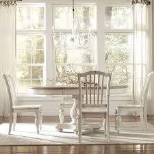 pedestal dining room table sets riverside furniture coventry two tone round pedestal dining table