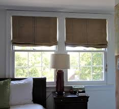 burlap roman shades with cape cod style home office traditional