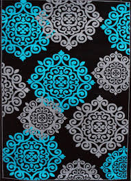 Black White Turquoise Teal Blue by Turquoise And Grey Area Rugs Roselawnlutheran Inside Teal And