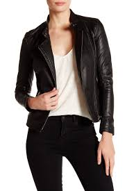 black leather biker jacket muubaa delaney genuine leather biker jacket nordstrom rack