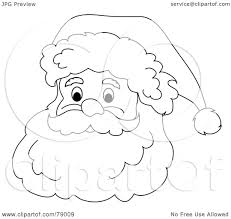 santa beard colouring pages within coloring page creativemove me