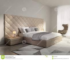 chambre à coucher contemporaine chambre à coucher en cuir beige de luxe élégante contemporaine
