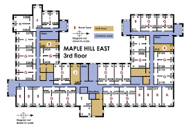 college floor plans university housing campus communities maple hill east