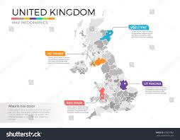 Eros Map United Kingdom Map Infographics Vector Template Stock Vector