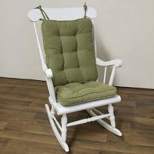 standard white rocking chair with green cushion baby rocking