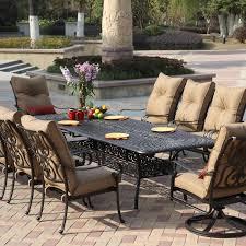 Outdoor Aluminum Patio Furniture by Darlee Santa Anita 11 Piece Cast Aluminum Patio Dining Set With