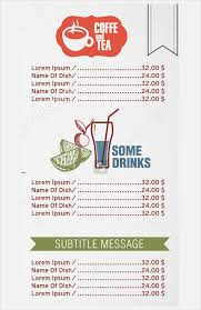simple menu template free 28 drink menu templates free sle exle format
