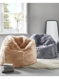 faux fur bean bags ottomans u0026 poufs luxury sheepskin bean bags