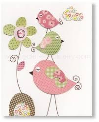 dessin chambre bébé fille illustration pour chambre d enfant fille bebe fleurs oiseaux