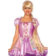 princess rapunzel long braid blonde wig halloween costume tangled