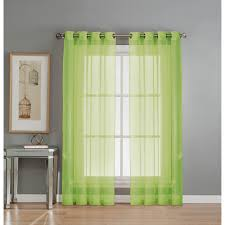Crushed Voile Sheer Curtains by Window Elements Semi Opaque Primavera Crushed Microfiber 55 In W