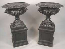 igavel auctions 3 victorian cast iron planters j w fiske 19th