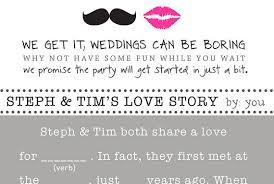 Fun Wedding Programs Original Wedding Programs Weddingswithinsight