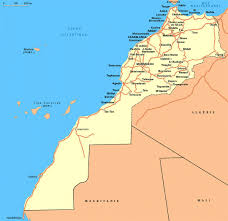 Map Of Western Africa detailed road map of western sahara and morocco western sahara