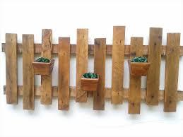 Flower Pot Holders For Fence - diy pallet pot holder wall planter